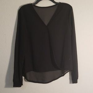 Tops - Black V neck Blouse